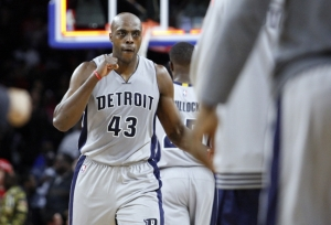 Can Antony Tolliver still be a rotation player for the Pistons next season? Image: USA Today Sports